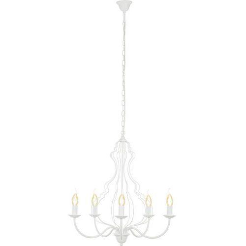 Lampa wisząca Nowodvorski Margaret 6330 zwis 5x60W E14 biała, 6330