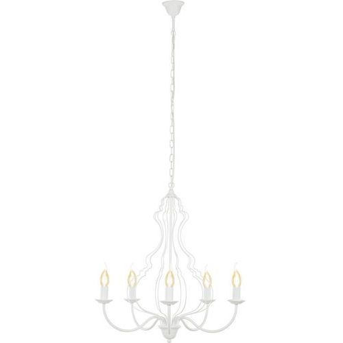 Nowodvorski Lampa wisząca margaret 6330 zwis 5x60w e14 biała (5903139633093)