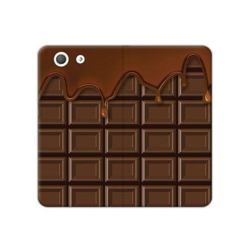 Sony Xperia Z3 Compact - etui na telefon Flex Book Fantastic - tabliczka czekolady, ETSN133FBFCFB070000