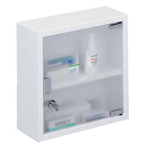 Szafka medyczna, apteczka, stal nierdzewna - 2 poziomy, ZELLER (4003368181219)