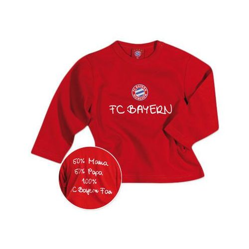 koszulka z długim rękawem fan - kolor czerwony marki Fc bayern münchen