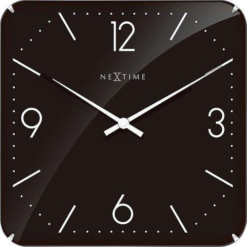 Zegar ścienny Basic Square Dome czarny