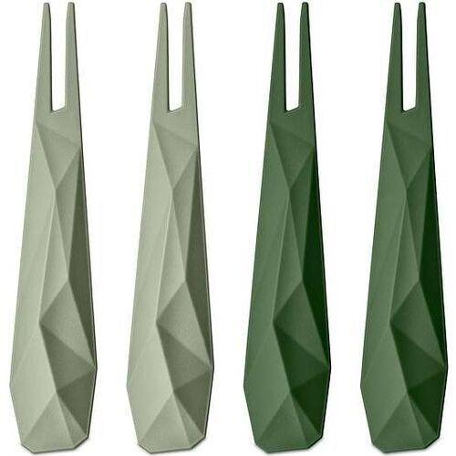 Koziol Widelczyki do przekąsek kant 4 szt. zielone