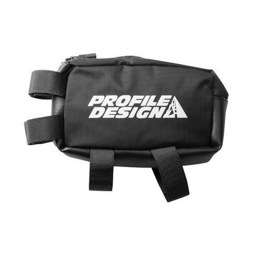 Profile design nylon zippered e-pack - torebka na ramę, s (czarny)