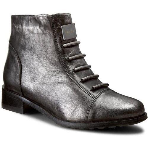 Eksbut Botki - 66-4088-e04-1g czarny/srebrny