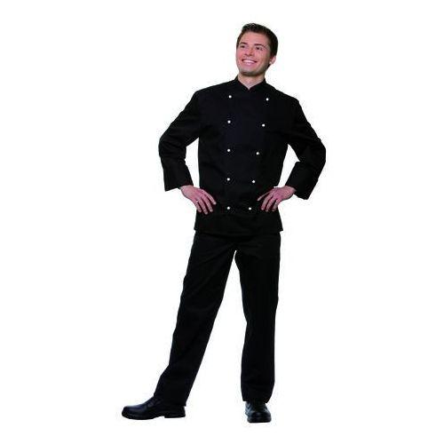 Bluza kucharska męska, rozmiar 46, czarna | KARLOWSKY, Thomas