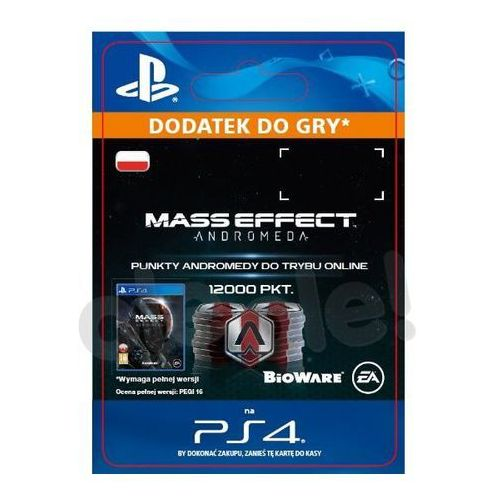 Mass Effect Andromeda 12000 PKT [kod aktywacyjny], SCEE-XX-S0030085