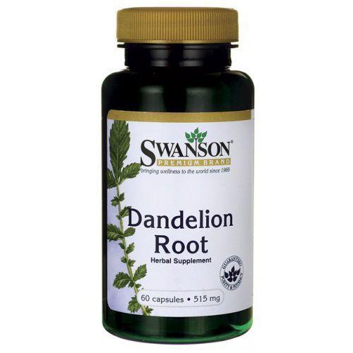 Korzeń mniszka lekarskiego dandelion 515mg mniszek lekarski 60 kapsułek SWANSON z kategorii pozostałe zdrowie