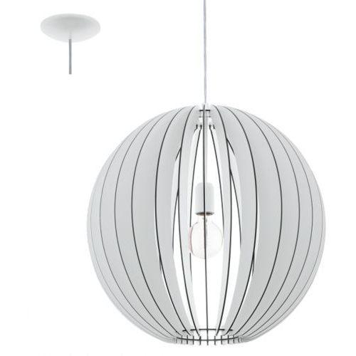 Eglo Lampa wisząca cossano śr. 50 cm - biała, 94439