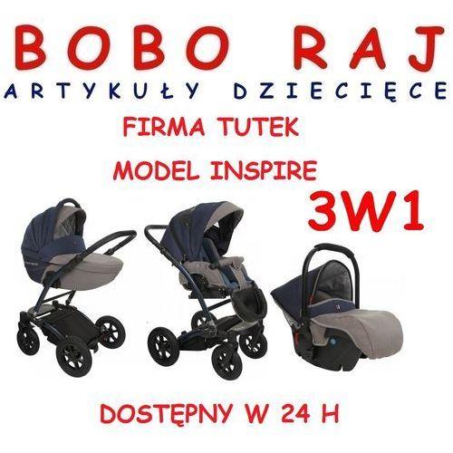 Wózek głęboko spacerowy firmy  model inspire 3w1 wysyłka 24 h marki Tutek