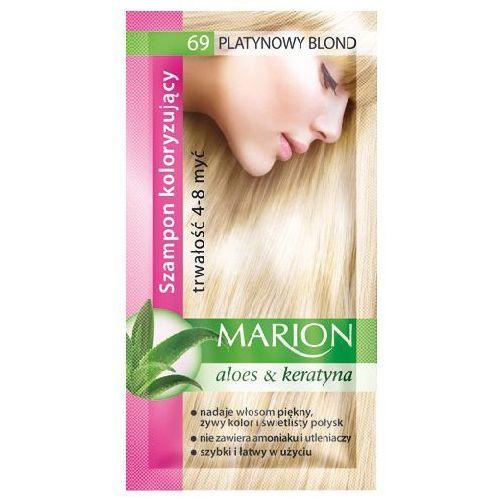szampon koloryzujący 4-8 myć nr 69 platynowy blond - marion, marki Marion