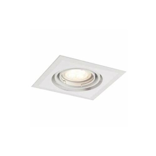 Wpust lampa sufitowa ebino h 7318 wpuszczana oprawa kwadratowa metalowa biała marki Shilo