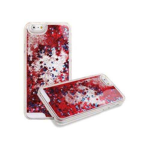 Czerwone etui pływające gwiazdki liquid star case plecki do apple iphone 5/5s - czerwony marki 4kom.pl