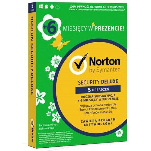 Symantec Norton security 2018 deluxe 1 użytkownik, 5 urządzeń, 18 miesięcy