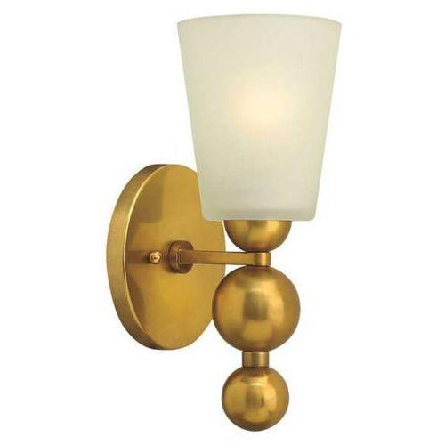 Hinkley Kinkiet lampa ścienna hk/zelda1 vs elstead szklana oprawa w stylu retro kule mosiądz biała