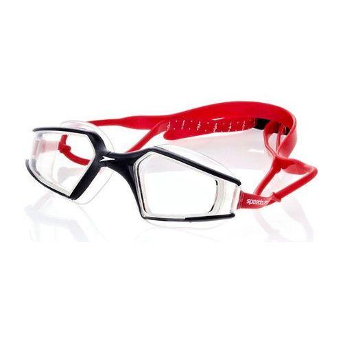 Speedo Okulary do pływania  aquapulse max 8080440171 - czarno-biało-czerwony