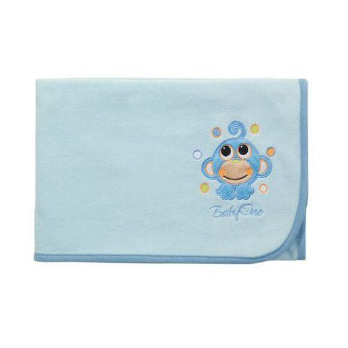 Super miękki kocyk polarowy, , jasnoniebieski - jasnoniebieski marki Babyono
