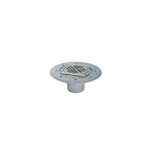 Kessel wpust łazienkowy classic z kratką szczelinową 150 mm i ramą ze stali nierdzewnej 47902