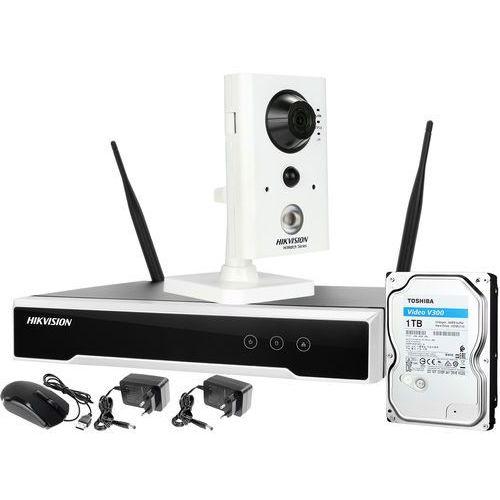 ZM12902 Hikvision Zestaw monitoringu bezprzewodowego na wyspę sprzedażową galerii 1 kamera z mikrofonem i czujnikiem ruchu PIR WiFi HD Dysk 1TB, ZM12902