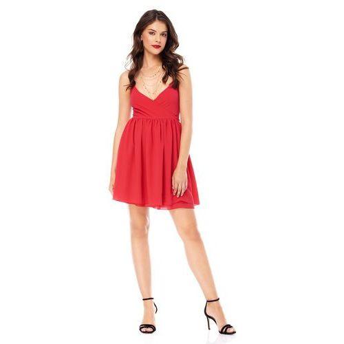 Sukienka aster w kolorze czerwonym marki Sugarfree