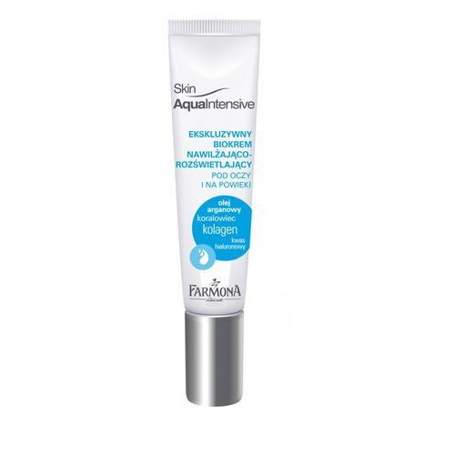 ekskluzywny biokrem nawilżająco-rozświetlający pod oczy i na powieki 15ml marki Skin aqua intensive