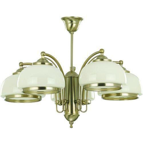 OKAZJA - Lampa wisząca Alfa Lord 10445 żyrandol oprawa 5x60W E27 patyna (5900458104457)