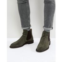 Selected Homme Suede Chelsea Boots - Green