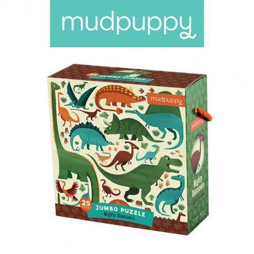 puzzle podłogowe jumbo potężne dinozaury 25 elementów 2+ marki Mudpuppy
