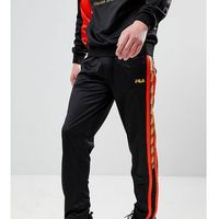 Fila poly tricot joggers with taping in black - Black
