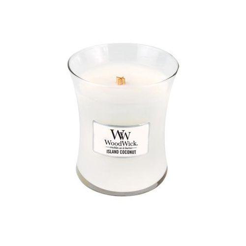 - świeca średnia island coconut 100h marki Woodwick