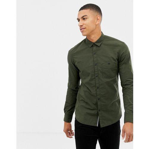 Tom Tailor smart regular fit shirt in green fine stripe - Green