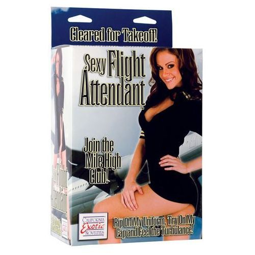 California exotic novelties Dmuchana lalka seksowna stewardessa zdejmowany mundur