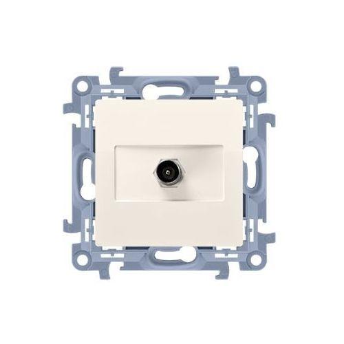 SIMON 10 Gniazdo antenowe pojedyncze końcowe (moduł). Do instalacji indywidualnych; krem CAK1.01/41 (5902787843069)