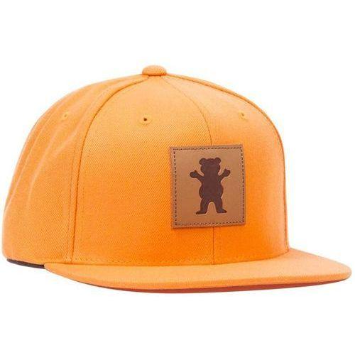 czapka z daszkiem GRIZZLY - Embossed Og Bear Snapback Orange (ORANGE), kolor pomarańczowy