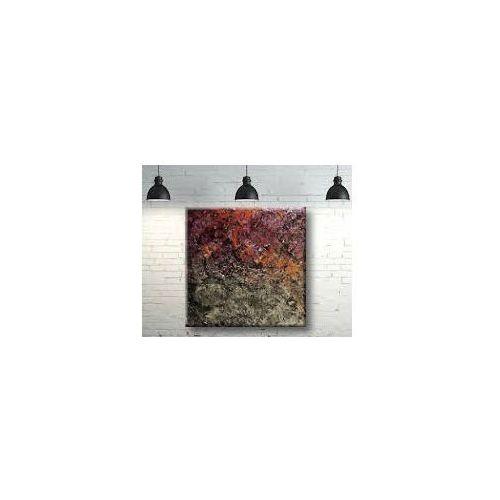 Obrazy do salonu metaliczne faktury z kolorem 80x80cm