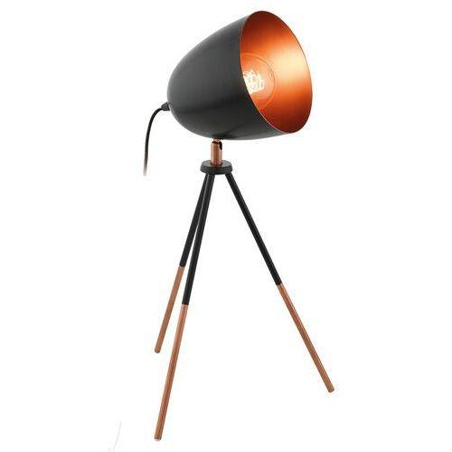 Eglo chester lampa stołowa czarny, miedź, 1-punktowy - - nowoczesny - obszar wewnętrzny - chester - (9002759493851)