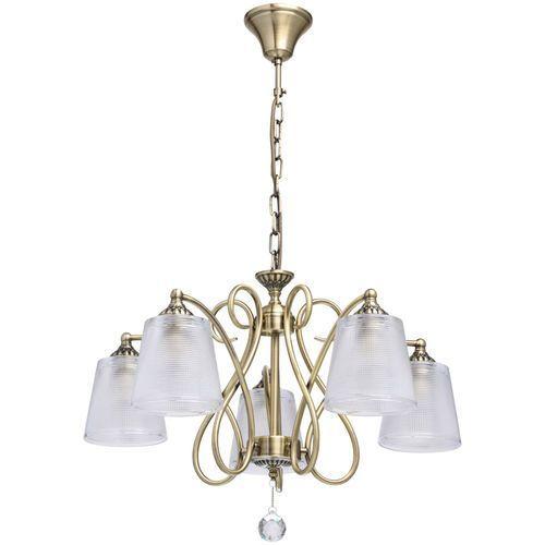 Oświetlenie wiszące do dużego pomieszczenia antyczny mosiądz (372013205) marki Mw-light