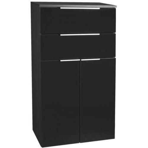 Szafka łazienkowa czarna, 2-drzwiowa, 2 szuflady kara antracyt marki Fackelmann