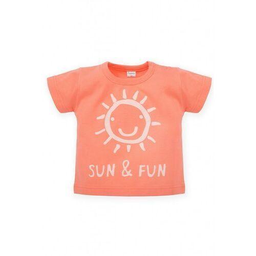 T-shirt niemowlęcy pomarańczowy 5i38ar marki Pinokio