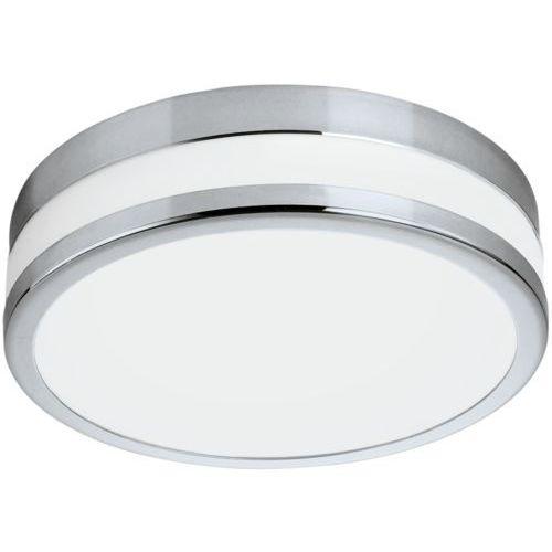 Eglo Plafon lampa sufitowa palermo 94999 szklana oprawa ścienna led 24w okrągły kinkiet ip44 chrom biały
