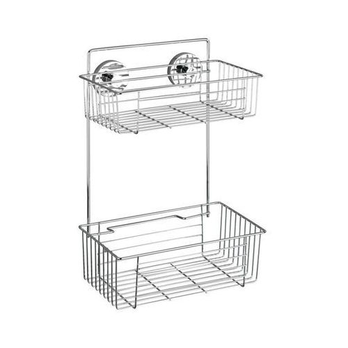 Półka łazienkowa BARI pod prysznic, Vacuum-Loc - 2 poziomy, WENKO (4008838208892)