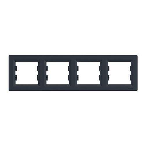 Ramka poczwórna asfora pozioma antracyt marki Schneider electric