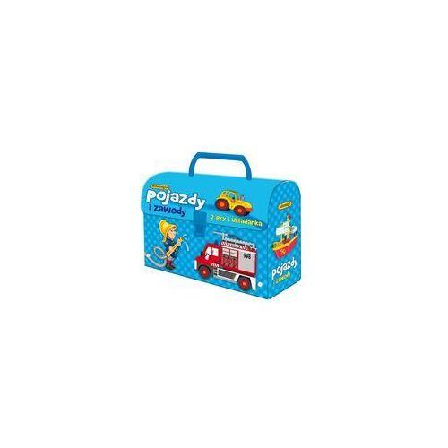 , gry logiczne pojazdy i zawody, zestaw w kuferku marki Adamigo