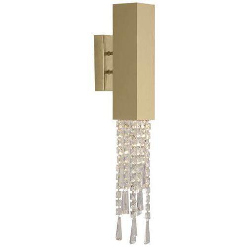 Amplex Kinkiet lampa ścienna profilo 596 prostokątna oprawa metalowa glamour kryształki crystals złota (1000000549959)