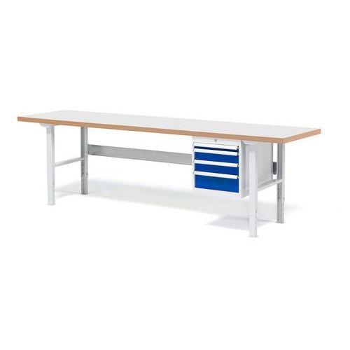 Stół warsztatowy z blatem o powierzchni laminowanej 800x500x2500mm, 232180