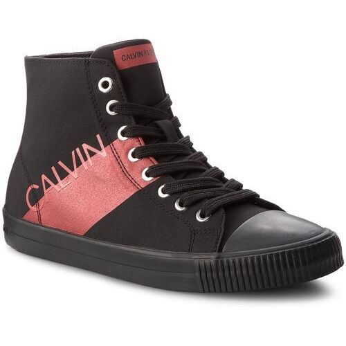 Trampki jeans - dalma re9804 black/metal red marki Calvin klein