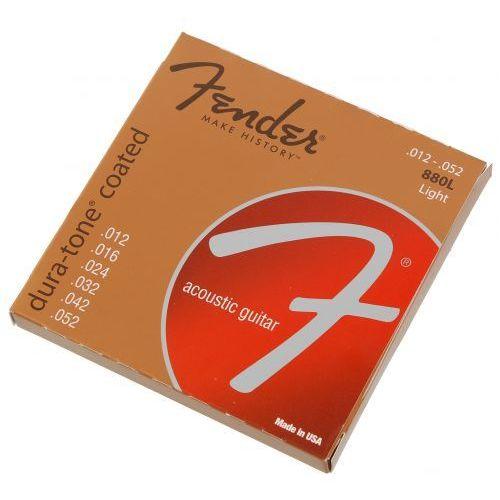 880l dura tone coated struny do gitary akustycznej 12-52 marki Fender