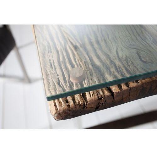 Szklana płyta - blat do stołu recstyle 200 cm teak marki Interior