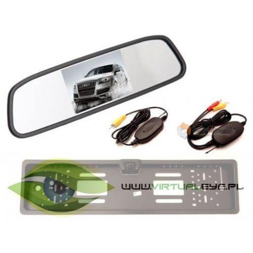 Bezprzewodowy zestaw kamera cofania + monitor w lusterku marki Virtualeye