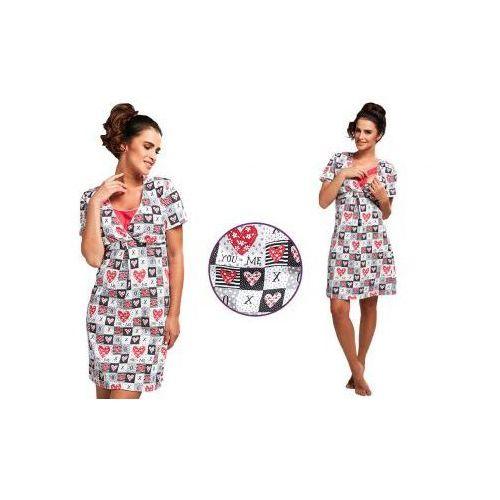 Koszula nocna ALICJA: fuksja, kolor różowy